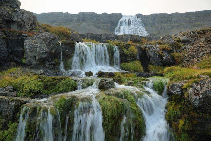 Backpacken in IJsland - Dynjandi Watervallen