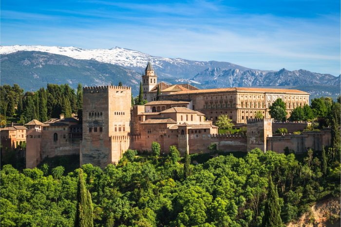 Historische Plaatsen - Alhambra in Granada, Europa