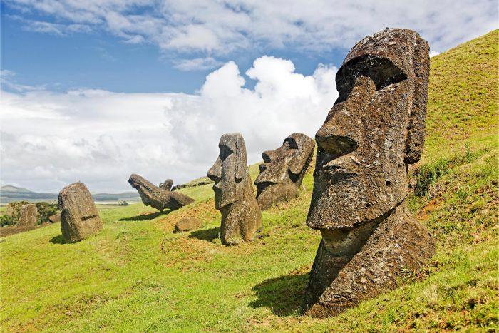 Historische Plaats - Paaseiland Moai Beelden in Chili