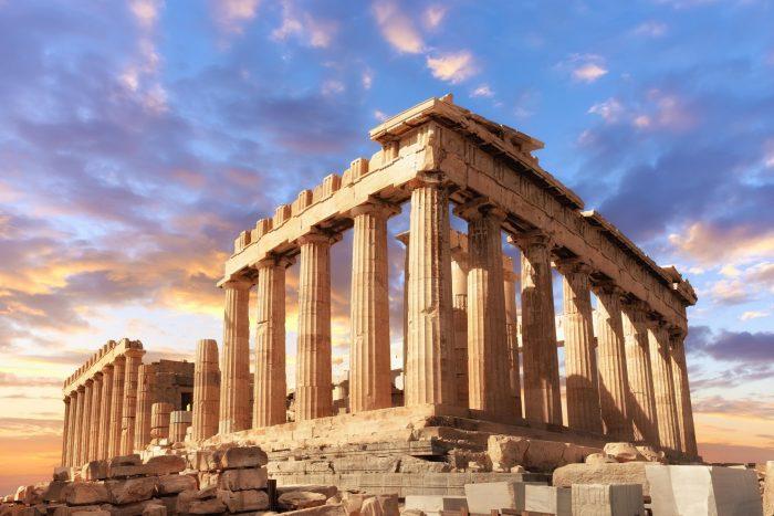 Historische Plaats - Parthenon in Athene, Griekenland
