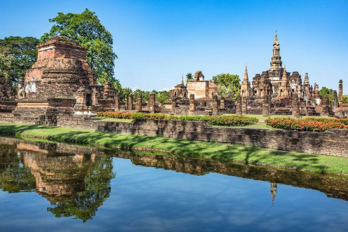 Historische Plaats - Sukhothai in Thailand