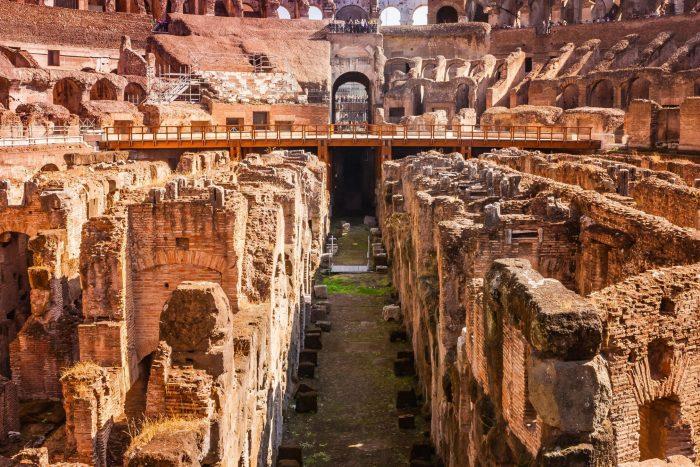 Hypogeum in Colosseum
