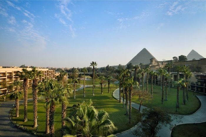 Marriott Mena House met Uitzicht op de Piramides van Gizeh