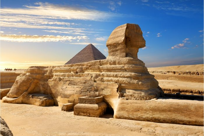 Sfinx bij de Piramides van Gizeh