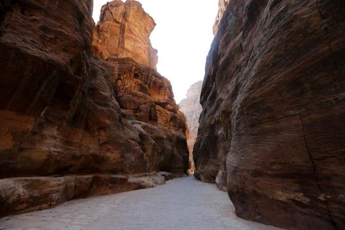 Siq bij Petra, Jordanië