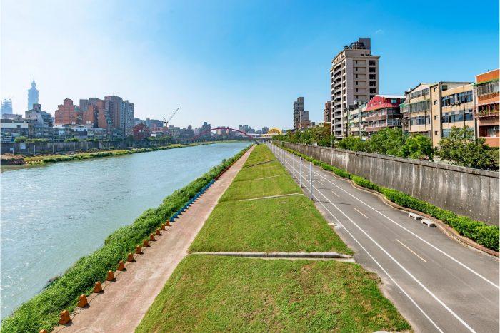Taipei Rivier Wandeling