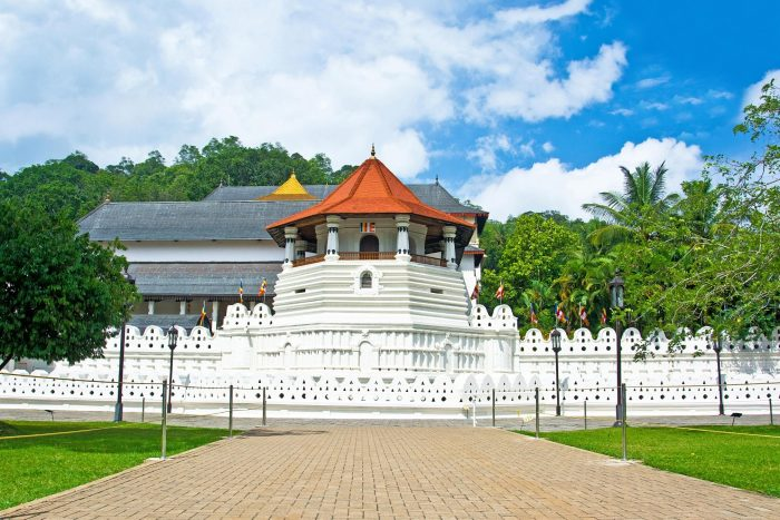 Tempel van de Tand (Temple of the Sacred Tooth Relic) Kandy Sri Lanka