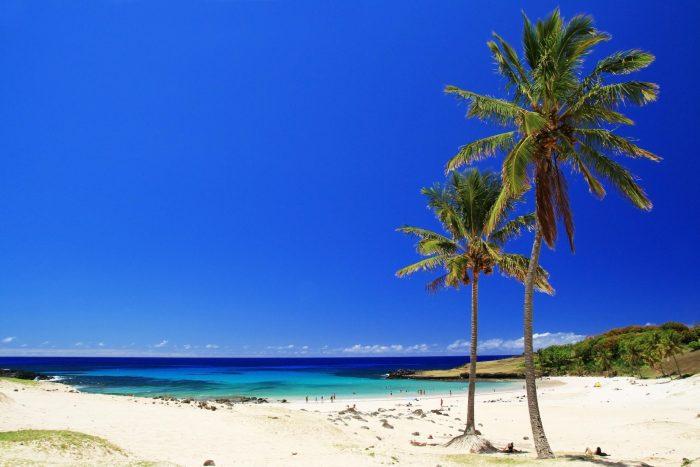 Anakena Beach op Paaseiland (Rapa Nui)