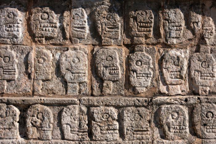 Chichen Itza - Muur van schedels