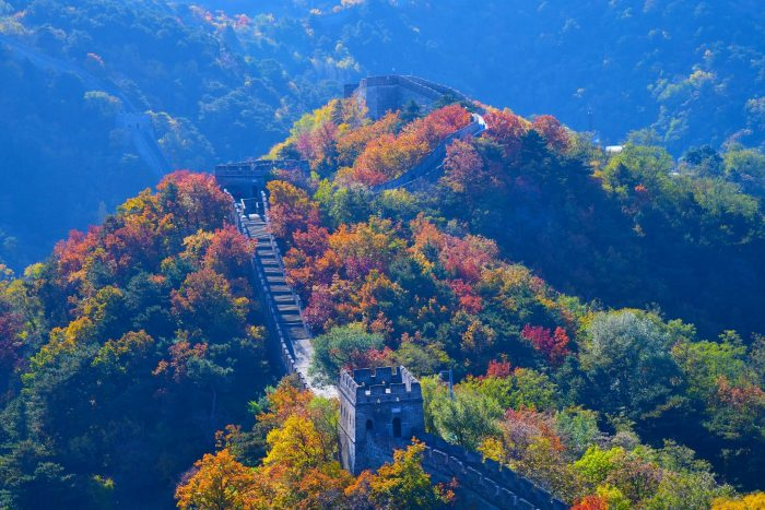 Chinese Muur - Mutianyu In de Herfst