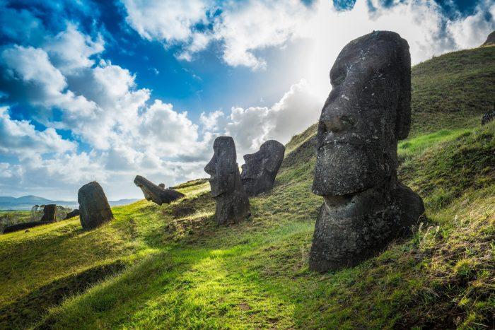 Moai Beelden op Paaseiland (Rapa Nui)