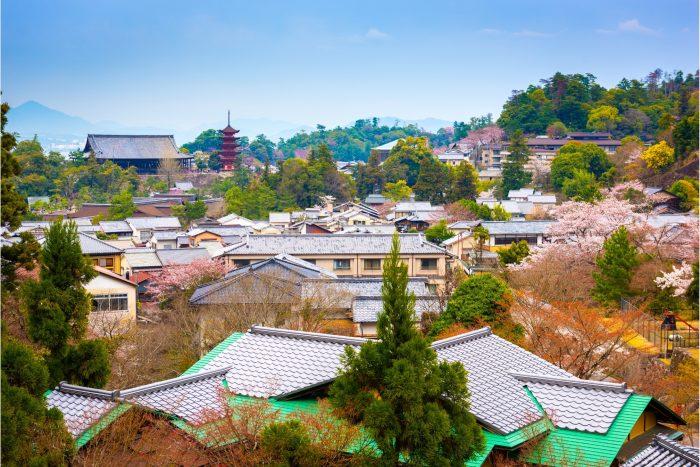 Senjokaku Hal en Pagoda in Miyajima Japan