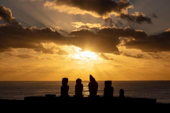 Tahai Zonsondergang op Paaseiland (Rapa Nui)