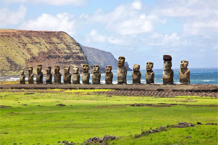 Tongariki op Paaseiland (Rapa Nui)