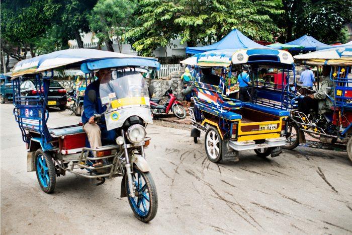 Tuktuks op de straat