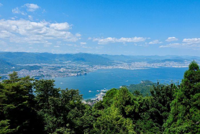 Uitzicht vanaf Mount Misen op Miyajima