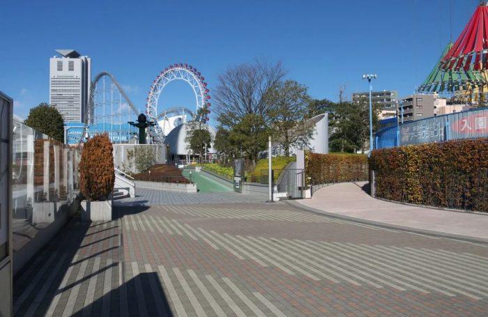 Achtbaan bij de Tokyo Dome en LaQua