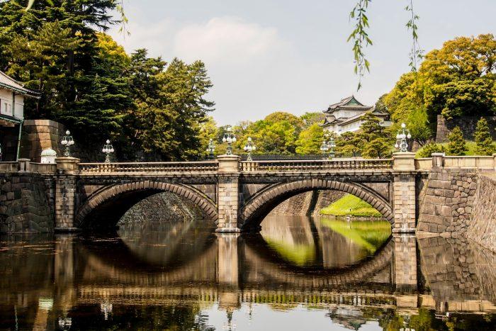 Brug en Keizerlijke Paleis in Tokyo