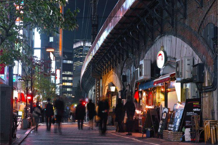 Eten langs Yurakucho station