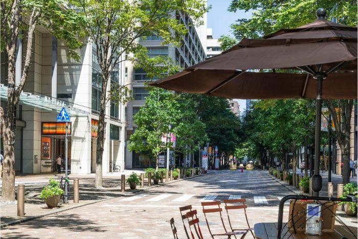 Nakadori Avenue, straat in Marunouchi