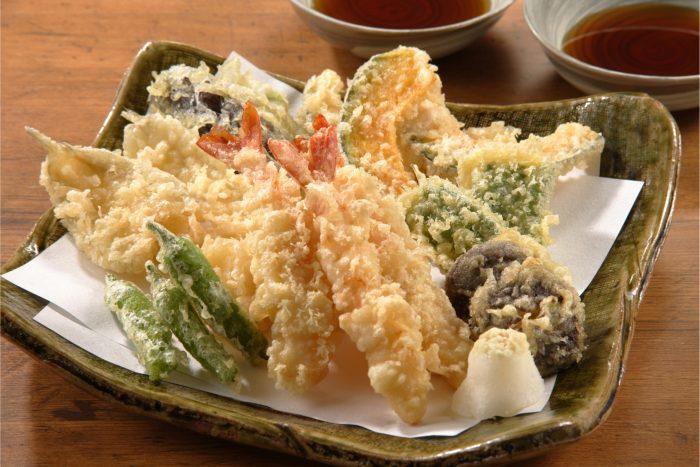 Schaaltje met Japanse tempura