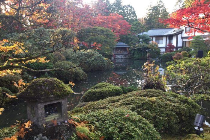 Shoyoen Tuin vlakbij Rinnoji Tempel in Nikko
