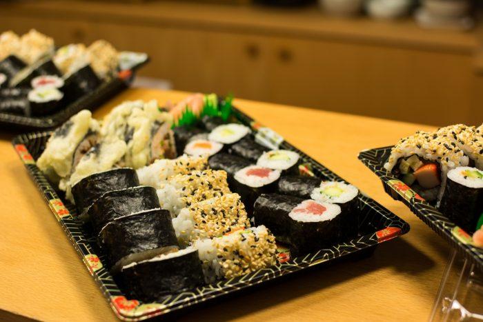 Sushi in een restaurant
