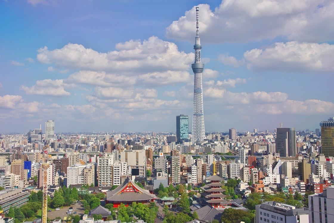 Tokyo Skytree en tempels in Tokyo