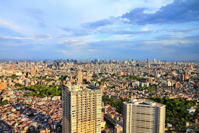 Uitzicht over Ikebukuro, Tokyo