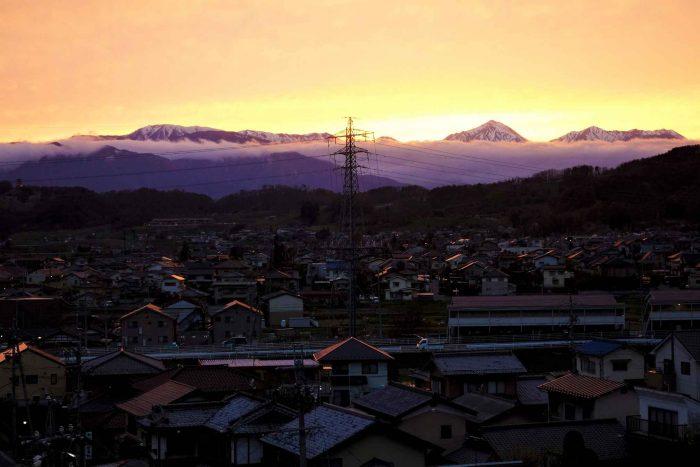 Matsumoto bij zonsopkomst