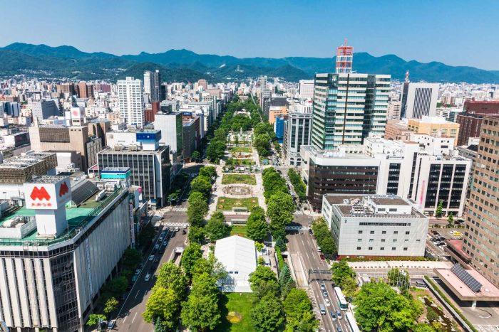 Odori Park door Sapporo