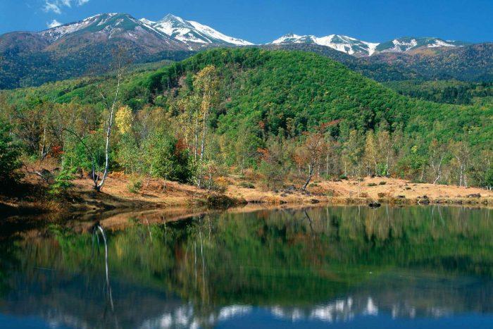 Uitzicht op Mount Norikura