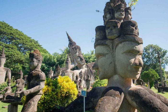 Boeddhapark (Xieng Khuan) bij Vientiane