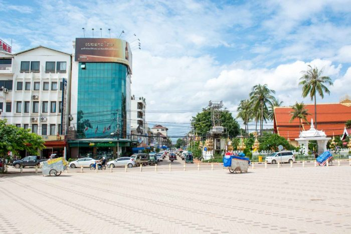 De stad Vientiane in Laos