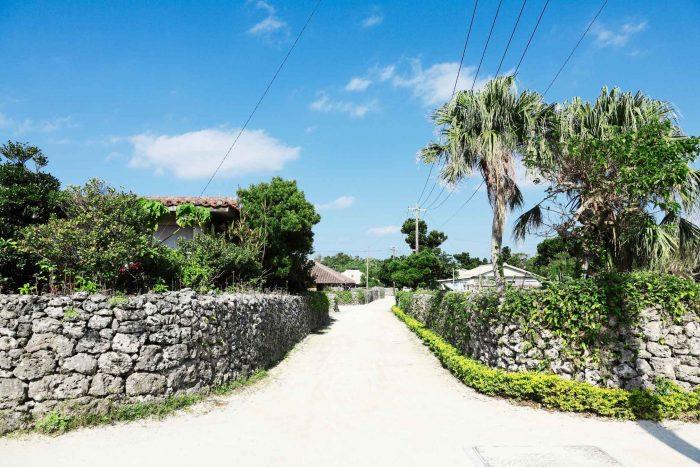 Dorp op Taketomi eiland (Okinawa)