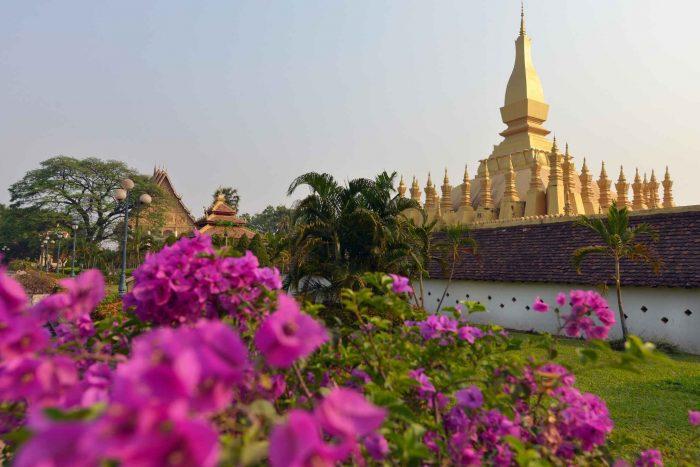 Gouden stoepa in Vientiane