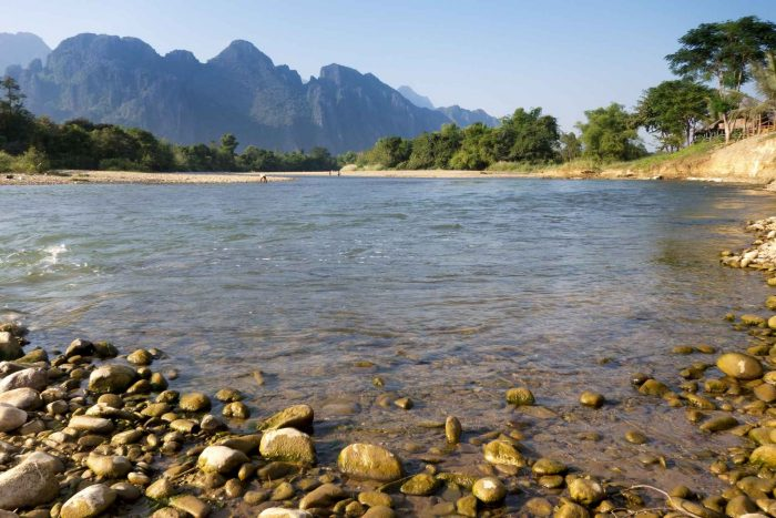 Nam Song rivier in Vang Vieng