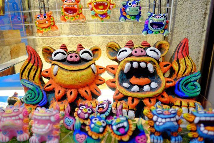 Okinawa leeuwen souvenirs