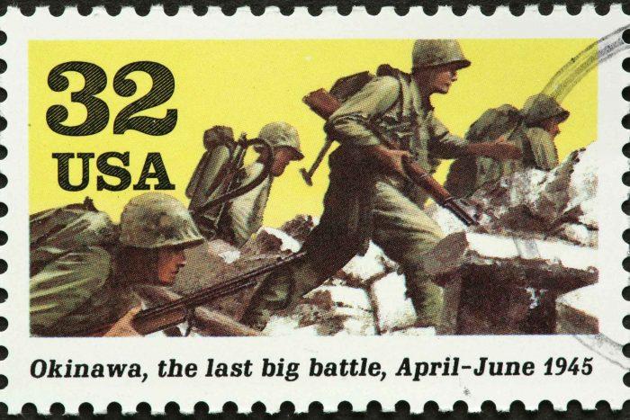 Okinawa oorlog postzegel