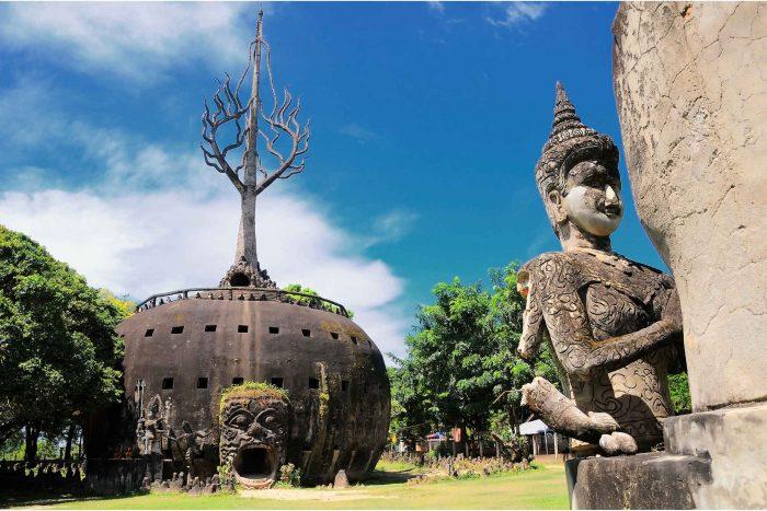 Pompoen in het Boeddhapark (Xieng Khuan)