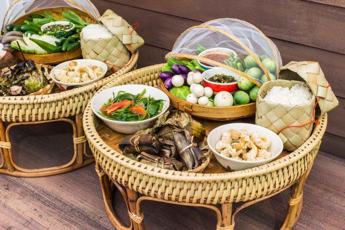 Thaise gerechten set in Kantoke-stijl