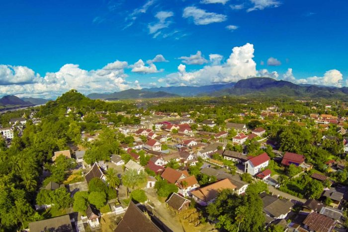 Uitzicht over Luang Prabang in Laos