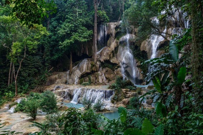Waterval in het Phou Khao Khouay Nationale Park