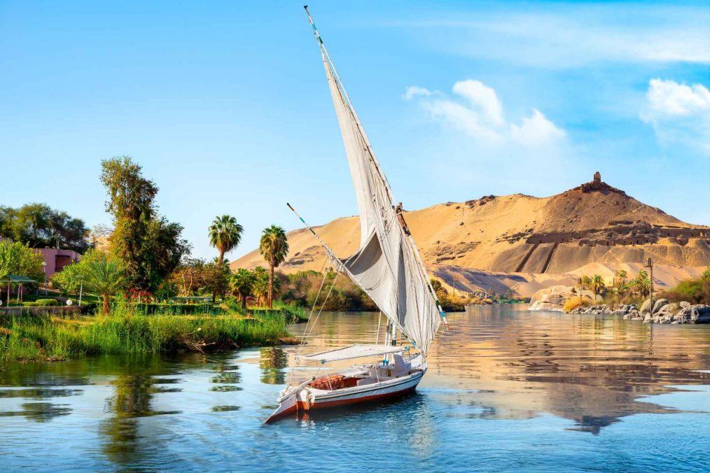 Boot in de Nijlvallei bij Aswan