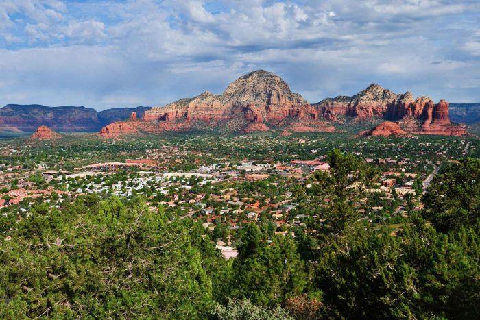 De stad Sedona in Arizona