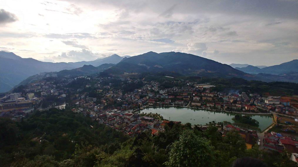 De stad in Sapa Vietnam