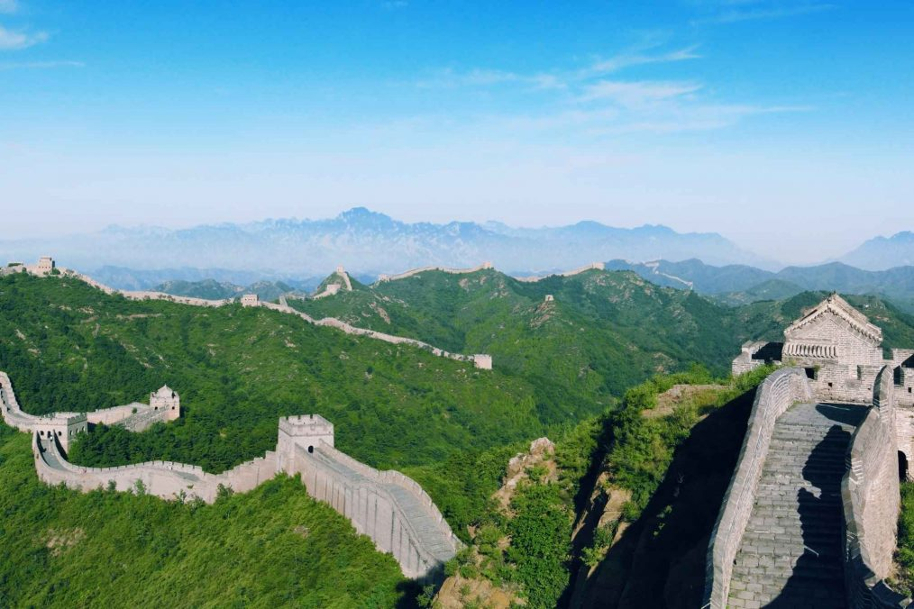 Deel van de Chinese Muur (of Grote Muur) bij Peking