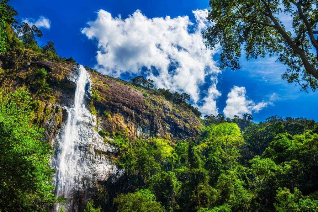 Diyaluma waterval in Sri Lanka