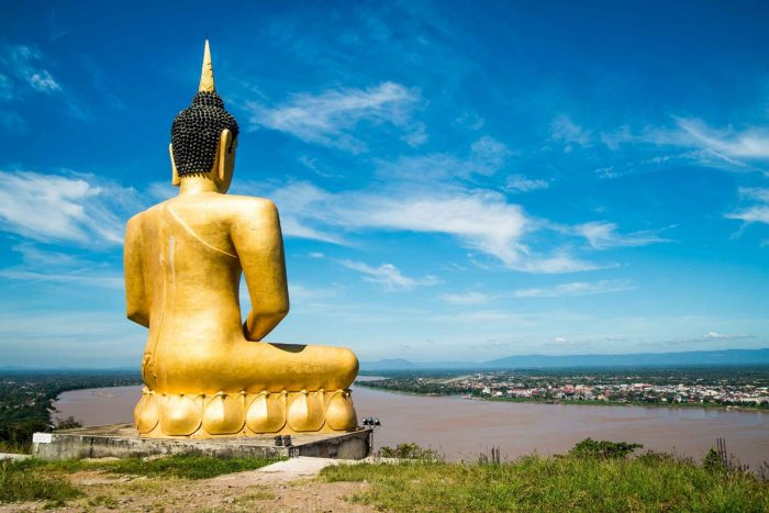 Gouden Boeddha bij Pakse