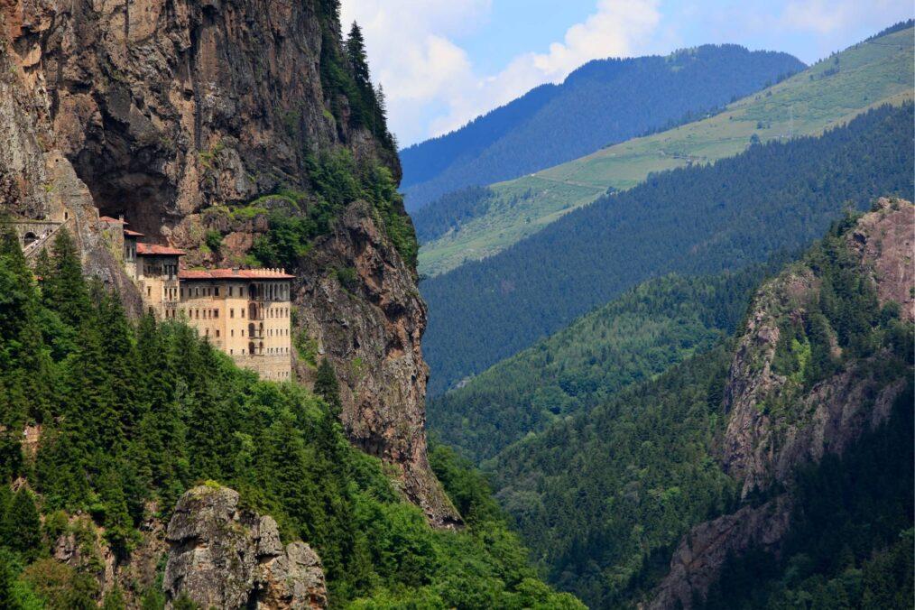 Het Sumela klooster in Turkije